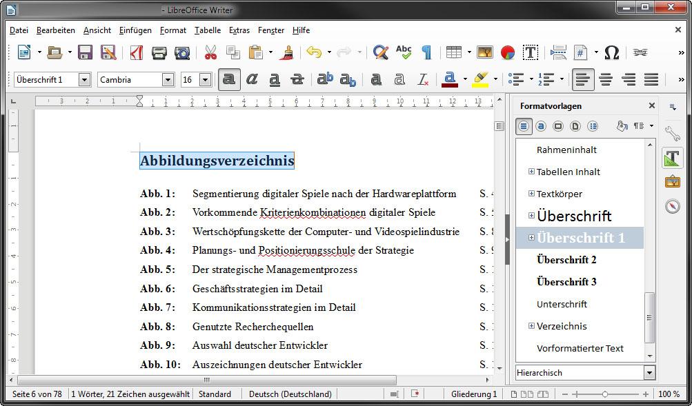 LibreOffice: Inhaltsverzeichnis einfügen – so geht\'s – GIGA