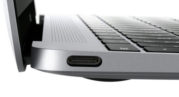 USB 3.1 Typ C in einem nagelneuen MacBook von Apple