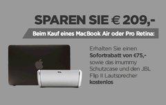 Bis zu 209 Euro sparen bei Kauf eines MacBook Air oder MacBook Pro Retina (bis zum 9.04.15 verlängert)