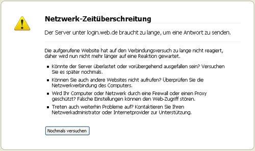 Netzwerk Zeitüberschreitung Firefox