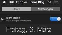 Kurztipp: Nicht stören in OS X mit nur einem Klick einschalten