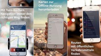 Nokia HERE: iOS-Karten- und Google-Maps-Alternative mit Offline-Funktion