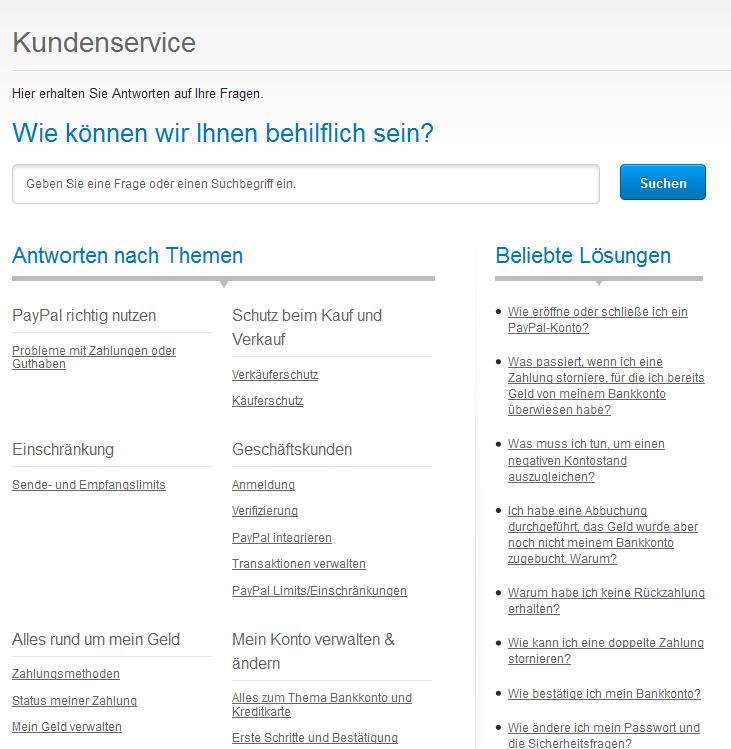 Paypal Deutschland Hotline