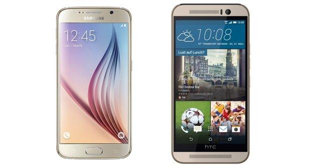 Samsung Galaxy S6 (Edge) vs. HTC One M9: Benchmark und Spezifikationen