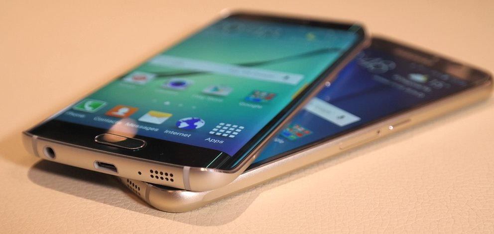 "Galaxy S6 edge, darunter das ""normale"" Galaxy S6"