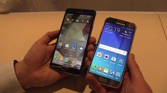 Samsung Galaxy S6 und Galaxy Note 4 im Hands-On-Vergleich [MWC 2015]