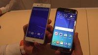 Samsung Galaxy S6 und Sony Xperia Z3 im Hands-On-Vergleich [MWC 2015]