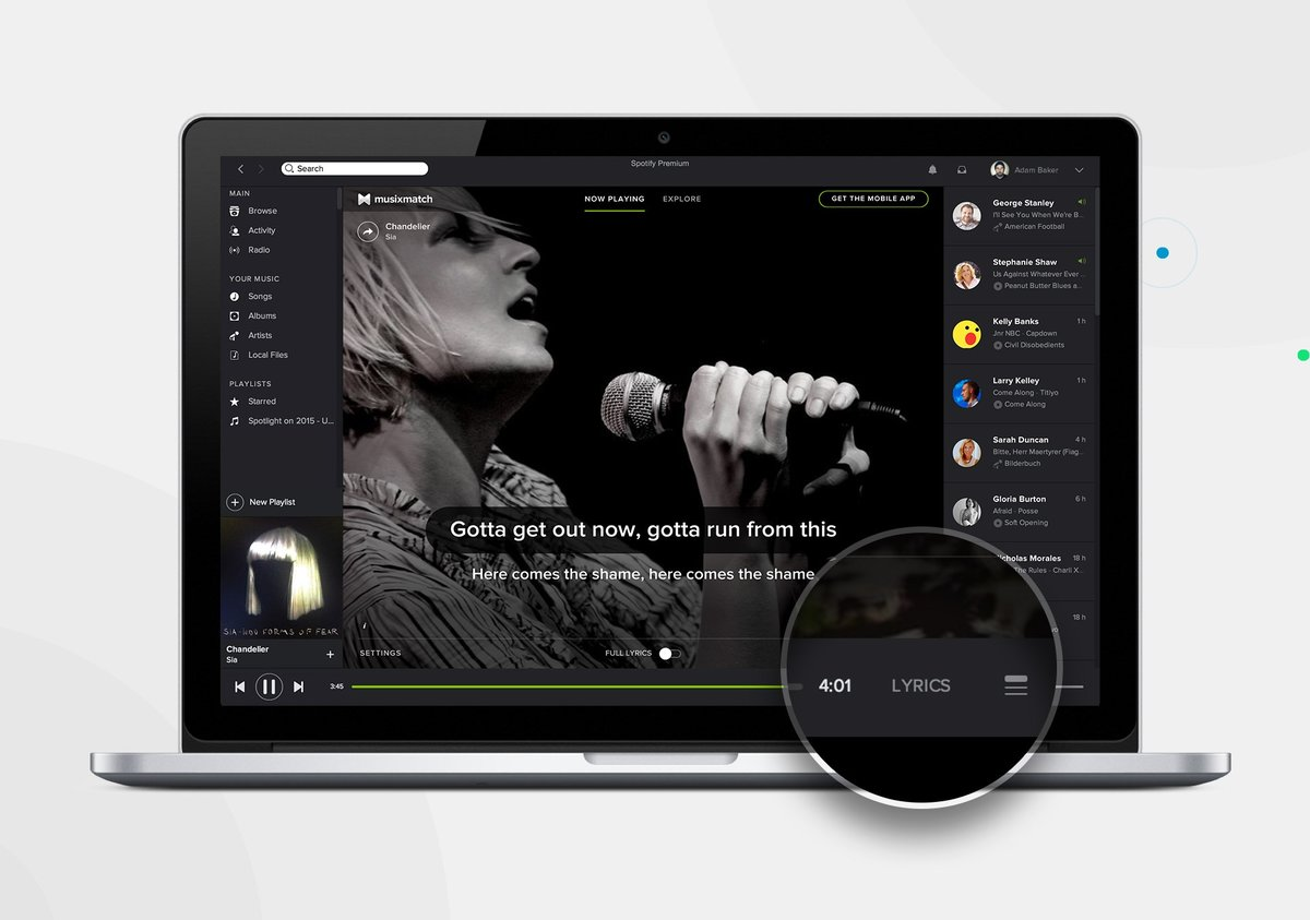 Lyrics Bei Spotify