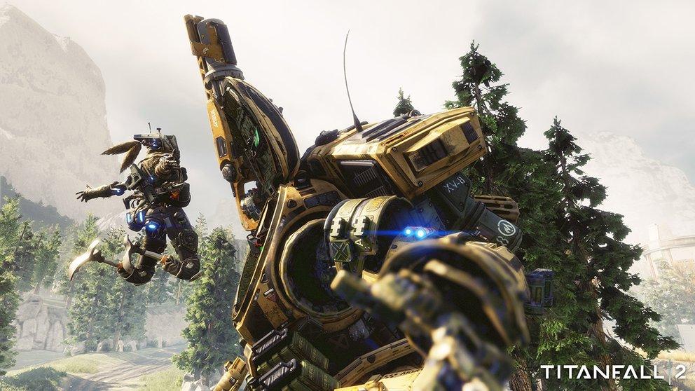 Titanfall 2: Pilot und Titan bilden ein unschlagbares Team im Grenzland.