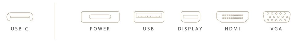 USB-C – Strom, USB, Display, HDMI, VGA