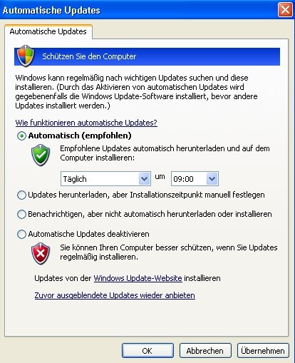 Windows automatische Updates
