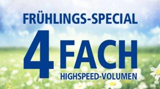 1&1 Frühlingsspecial: Allnet-Flat-Tarife mit 4-fachem Highspeed-Inklusiv-Volumen