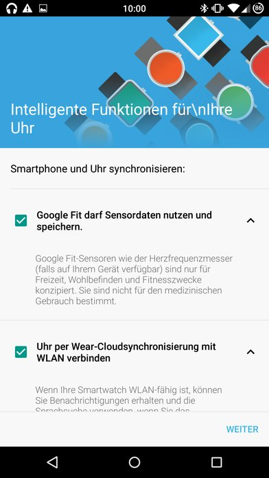 Android-Wear-Android-App-Update-1.1-Google-Fit-WLAN-Cloud-Abfrage