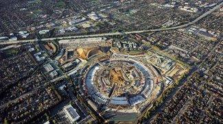 Apple Campus 2: Luftaufnahmen zeigen Baufortschritt am Hauptgebäude