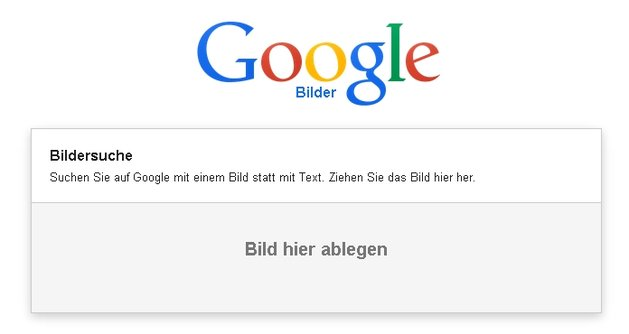 Google-Bilderkennung - Drag-&-Drop