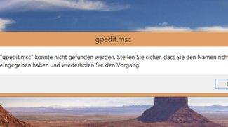 Gpedit.msc fehlt? So bekommt man es für Windows 10 & 8.1 sowie Windows 7
