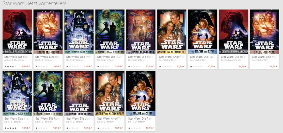 Star Wars Filme-downloaden