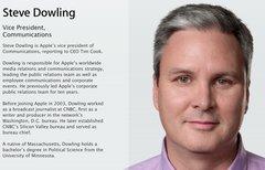 Steve Dowling wird Apples...
