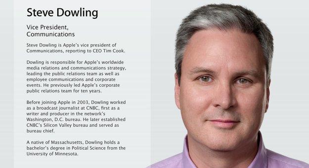 Steve Dowling wird Apples neuer Pressechef, Scott Forstall berät Snapchat