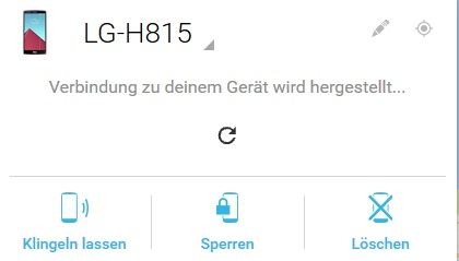 android geraetemanager - Muster Passwort