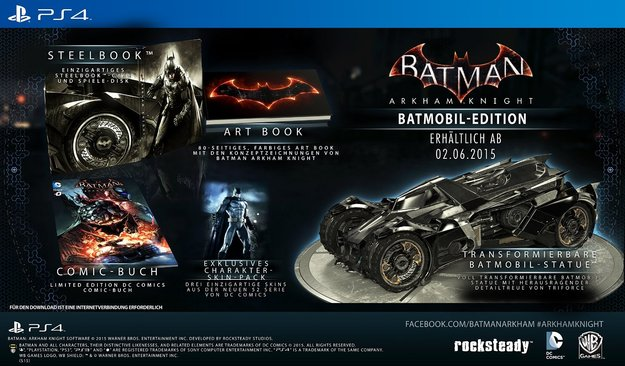 Batman Arkham Knight: Batmobil Edition wird nicht erscheinen