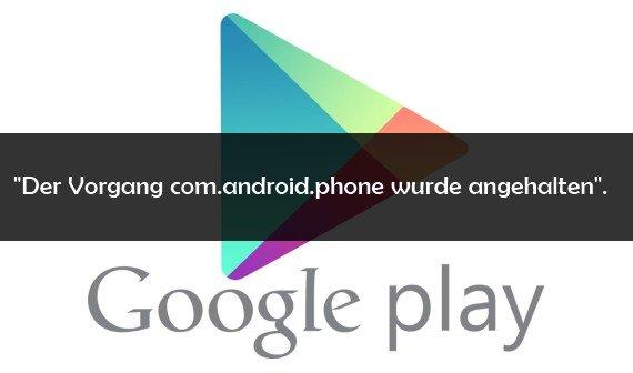Com.Android.Vending Angehalten