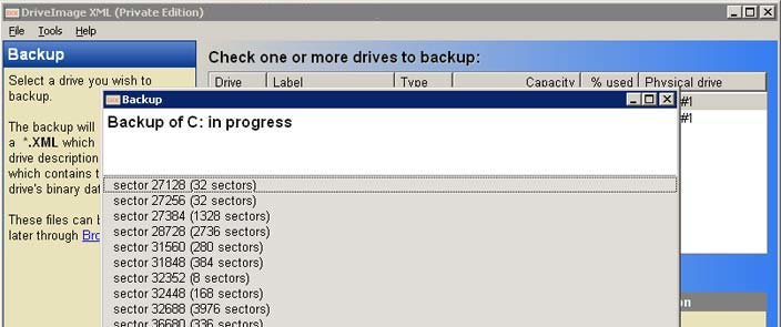 Die Freeware DriveImage XML kann ebenfalls Partitionen kopieren. Bildquelle: runtime.org