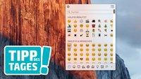 Emojis (Smileys) auf dem Mac aufrufen