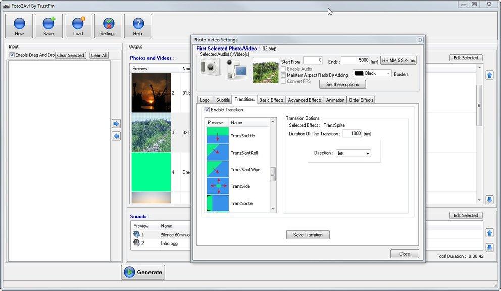 foto2avi screenshot