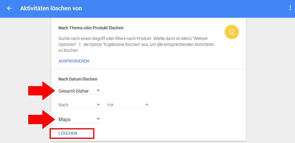 Google Verlauf Löschen Android