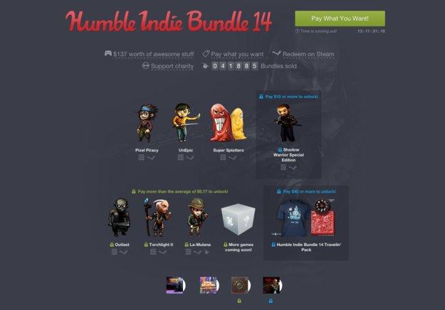 Humble Indie Bundle 14: Outlast, Torchlight II & mehr im Angebot *Update*