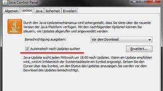 Java aktualisieren (Auto-Update & manuell)