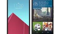 LG G4 vs. HTC One M9: Smartphone-Elite im Video-Duell