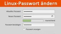 Linux-Passwort ändern (change password) – so geht's