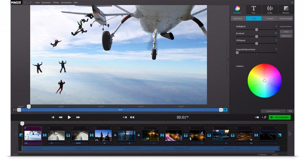 Magix Fastcut-Videobearbeitung