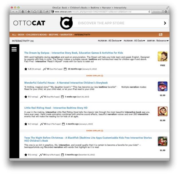 Apple übernimmt Ottocat für bessere Suchfunktion im App Store