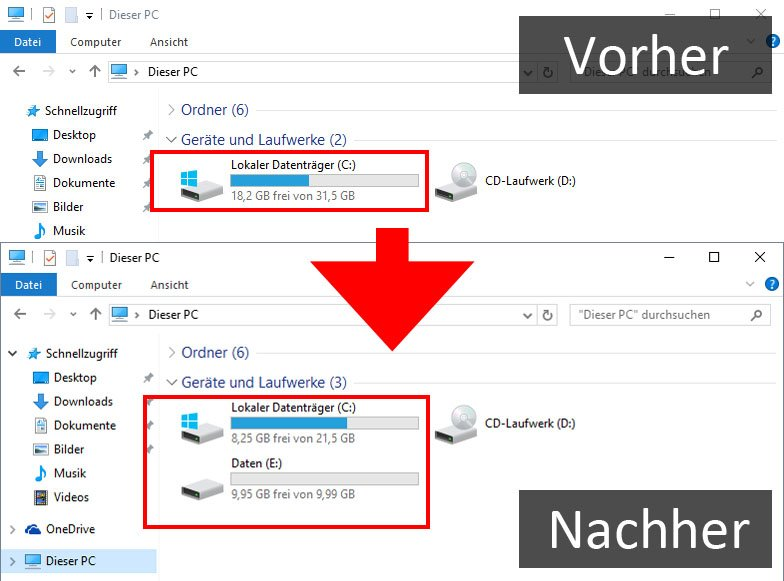 Zwei bootbare Windows Partitionen erstellen?