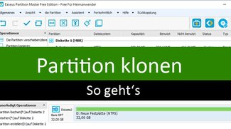 Partition klonen – So geht's