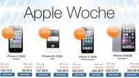 iPhones mit Händlergarantie günstiger: z.B. iPhone 4s ab 149,99 Euro, iPhone 5 ab 249,99 Euro, iPhone 5s ab 349,99 Euro