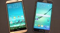 Samsung Galaxy S6 vs. HTC One M9 im Video-Vergleich