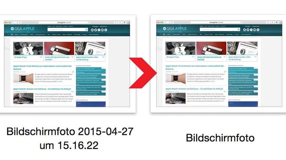 Kurztipp: OS X Screenshots ohne Datum und Zeit im Dateinamen