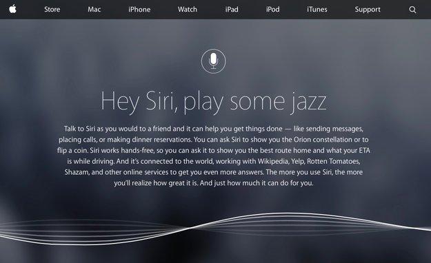 Siri: Apple präsentiert Assistenten auf neuer Website