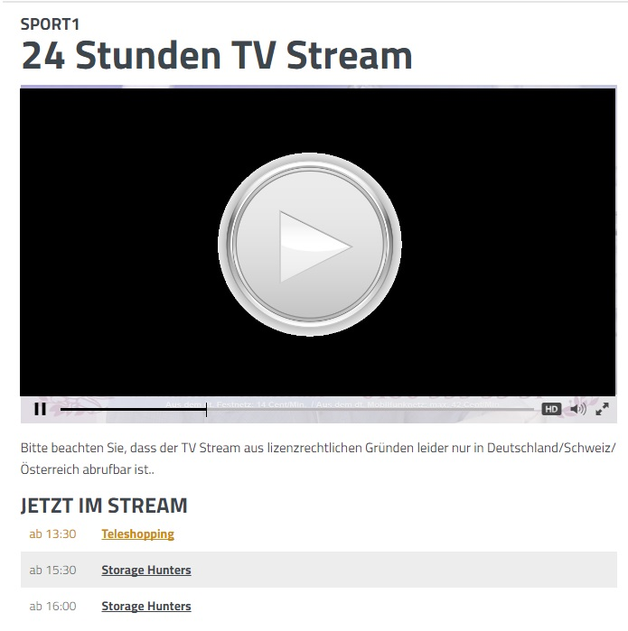 sport1 programm live stream