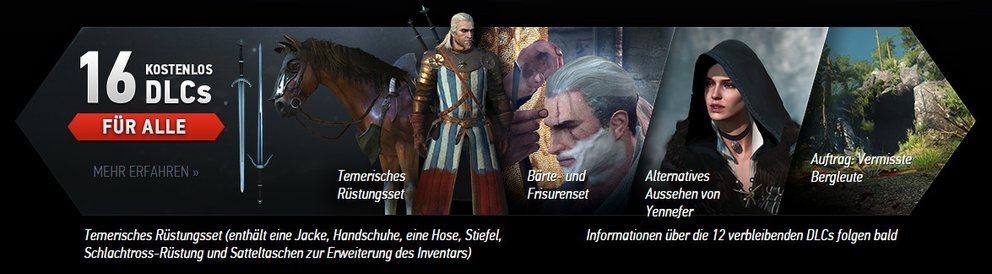 the witcher 3 kostenlose dlcs