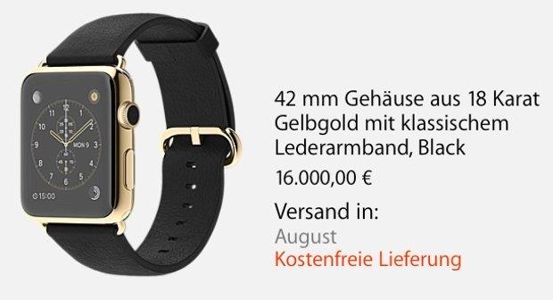 Apple Watch und MacBook: Lieferzeiten von mehreren Wochen und Monaten vom Start weg