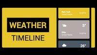 Weather Timeline - Forecast: Schicke Wetter-App mit Material Design-Elementen