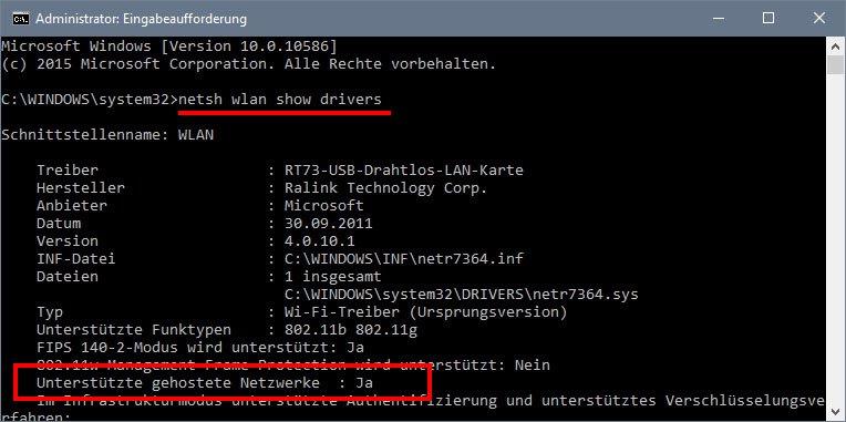 Mit dieser Netzwerkkarte können wir ein Windows-10-Hotspot einrichten.