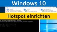 Windows 10: Hotspot einrichten – so geht's