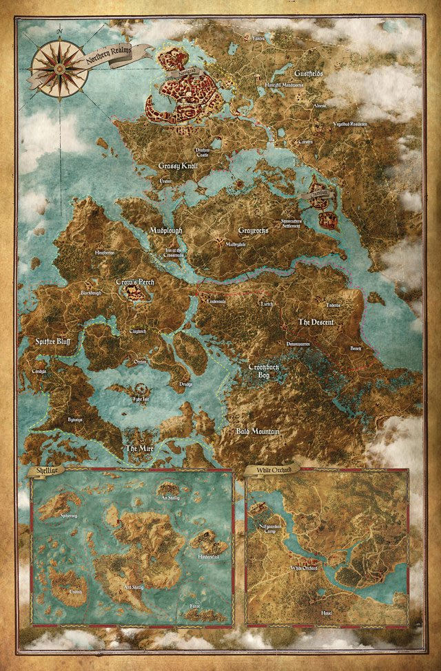 witcher 3 wild hunt map