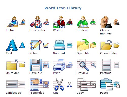 word icon library